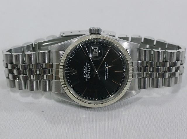 the latest 538d0 6d19a 16014 ロレックス デイトジャスト 黒 SS/WGベゼル ...