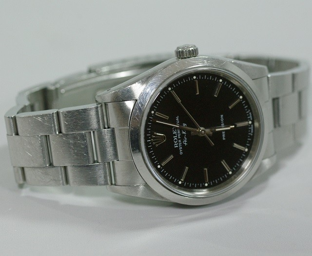 best authentic f4e60 221a0 ROLEX ロレックス エアキング 黒 14000 N番91年製 ...
