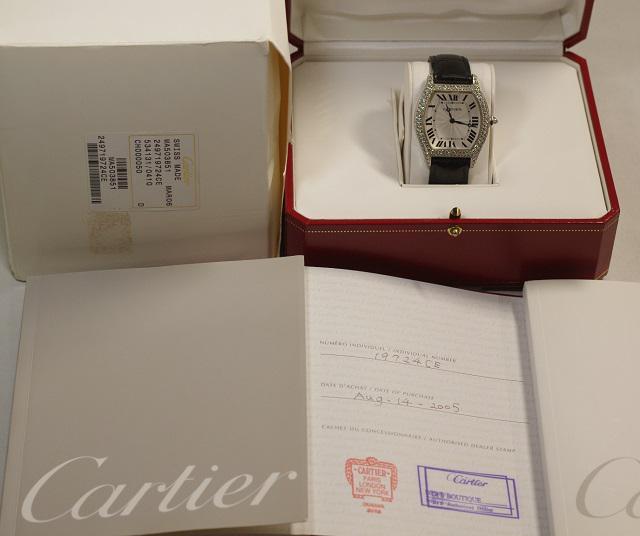 カルティエ CARTIER トーチュ LM 純正2重ダイヤベゼル 手巻 WG WA503851