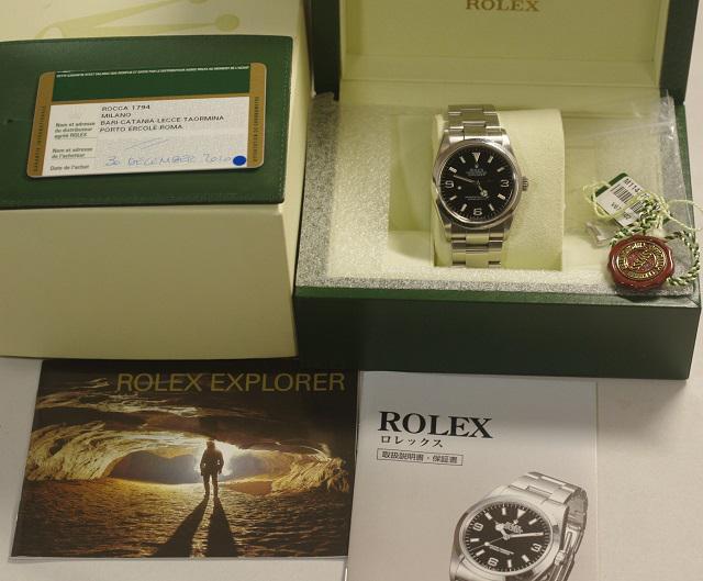 ロレックス ROLEX エクスプローラー1 114270 V番 ルーレットダイヤル