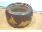 木製火鉢 直径47cm 美品