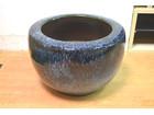 大型火鉢 金魚鉢 円形火鉢 なまこ釉 美品