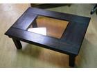木製 折り畳み テーブル 座卓 中央ガラス …