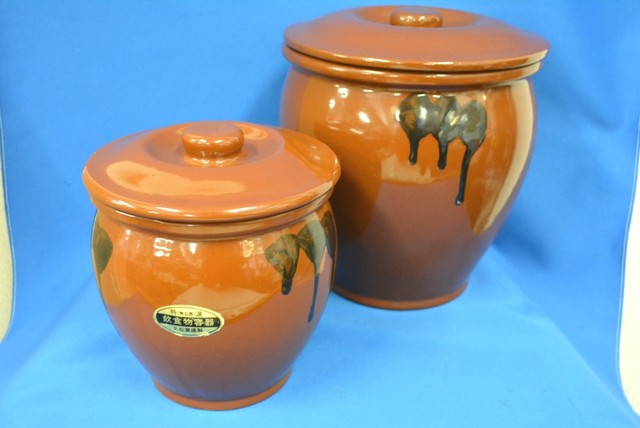 久松窯謹製 飲食物容器 ぬか漬鉢 大小セット 未使用品