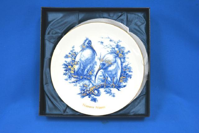 Meissen マイセン イヤープレート 日本保護動物シリーズ トキ 2002 未使用品