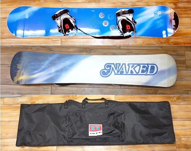 NAKED スノーボード 148 バインディング、バッグ付