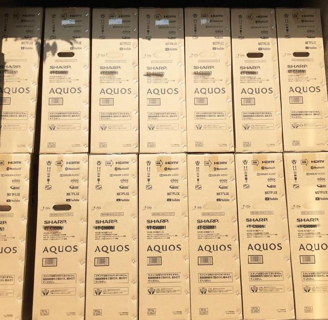 【高額買取No.1への挑戦!モノパーク】SHARP 4K液晶テレビ 30台