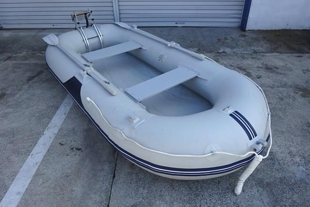 アキレス インフレータブルボート PV4-542 ゴムボート 手漕ぎ トランサム付き