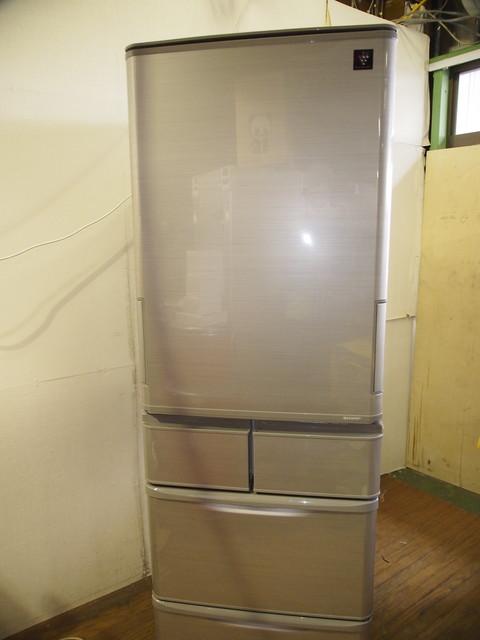 冷蔵庫 シャープ(SHARP) 2016年製 412L SJ-PW42B-S (シャイニーシルバー)