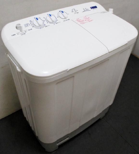 高年式 YAMADA/ヤマダ電機 二層式 電気洗濯機 YWM-TD55G2 5.5㎏ 2020年製