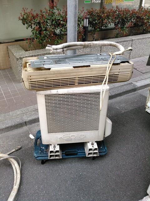 壊れたエアコンの有料処分