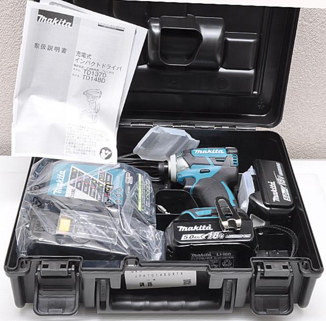 マキタ 充電式インパクトドライバ TD148DRTX 18V 5.0Ah