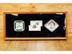 皿の額装 鶴/松/孔雀 三枚皿 飾り皿 縁起…
