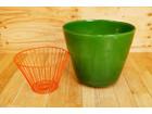 ガーデン ガラス製 植木鉢 鉢カバー グリー…