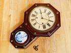 セイコー社 レトロ 壁掛け時計 ネジ巻式