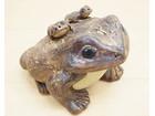 縁起物 蛙 カエル 「無事帰る」 置物 和風