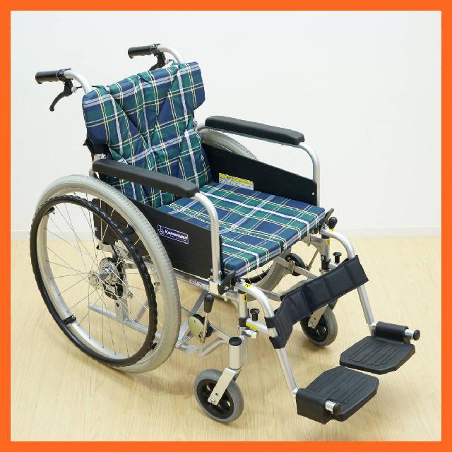 カワムラ アルミ製 自走式車椅子 介助用 KA822B-N3 介護 車いす