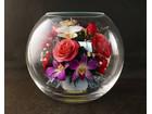 花飾り ブリザーブドフラワー 薔薇 花瓶