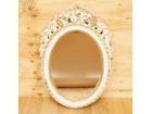 ロココ調 壁掛け 鏡 ミラー 花飾り イタリ…