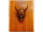 木彫 般若 お面 鬼面 飾り面 木製 彫刻 …