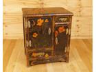 漆芸 漆塗り 花鳥図 小箪笥 収納棚 和家具