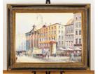 風景画油彩 油絵 街並み 102×127