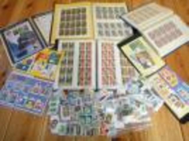 未使用切手シート