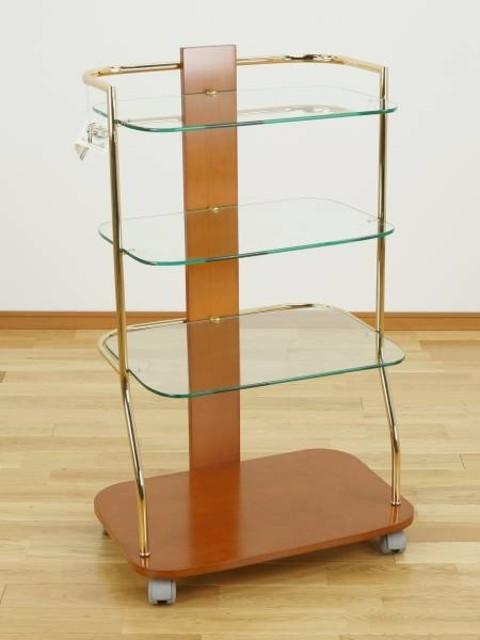 fae ガラス 4段 テレビラック ハイタイプ 飾り棚