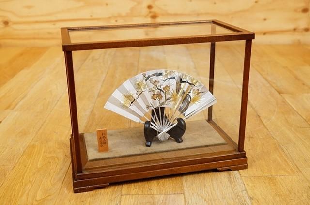 関工業 純銀製 松竹梅 扇子 置物