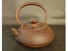 鉄壷 鉄瓶 平丸型 在銘 煎茶道具 古道具 …