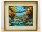 T.SHINOMIYA 油彩 「蔓橋」 風景…