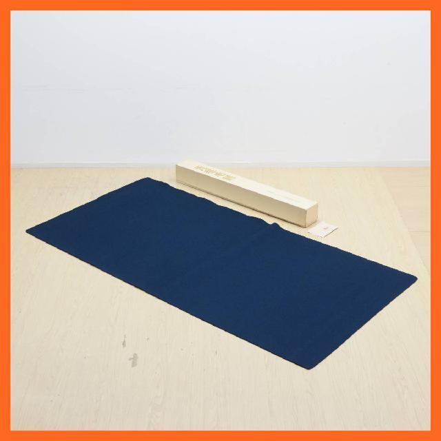 日本フェルト株式会社 天壇毛氈 約189× 94.6cm 紺 箱付 茶道具 ディスプレイ