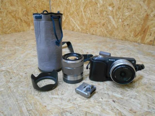 SONY ソニー NEX-3 カメラ ミラーレス デジタル 一眼 ダブル レンズ ジャンク