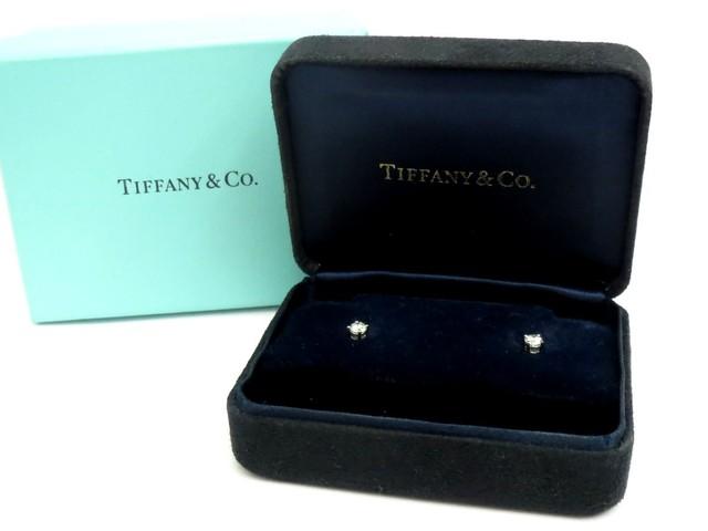 【買取専門店よろずや駒川店】Tiffany&Co.  ティファニー Pt950 ダイヤモンド ピアス