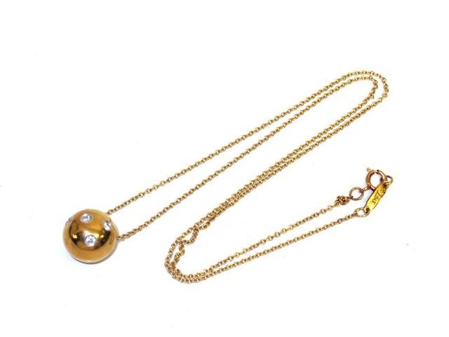 【買取専門店よろずやあびこ店】ティファニー K18 ダイヤ付き ドッツボール ネックレス