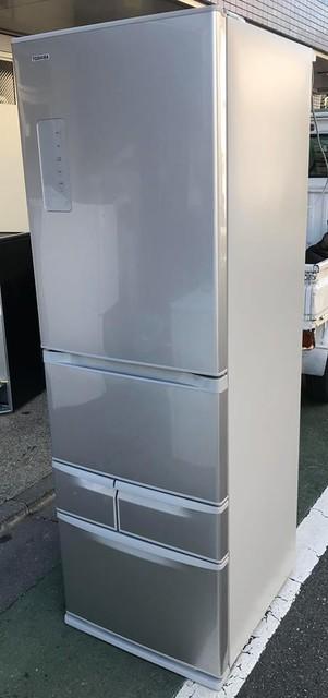 東芝 426L 左開き 5ドア冷凍冷蔵庫  シルバー