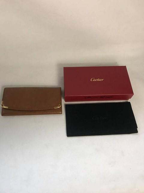 Cartier マルチェロ 二つ折り 長財布 レザー ブラウン