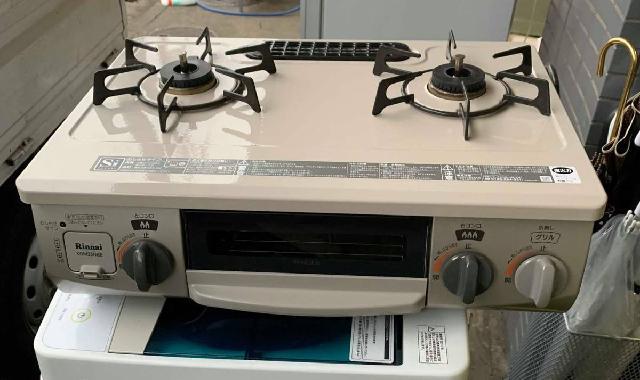 リンナイ コンパクト ガステーブル 水無片面焼 LPガス用 右強火