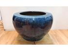 陶器火鉢 古民具 手焙り 海鼠釉 金魚鉢
