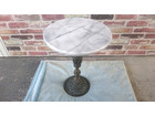 大理石天板丸型サイドテーブル コーヒーテーブ…