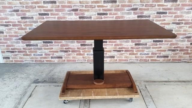 シギヤマ家具 木製 昇降式ダイニングテーブル 中古美品