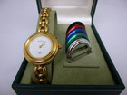 グッチ GUCCI 6色ベゼルチェンジ腕時計…
