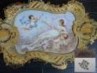 ヨーロッパアンティーク 陶板トレー 高級陶器…