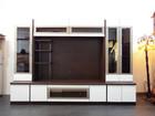 松田家具 大型 テレビボード メイサ ゼブラホワイト を寝屋川市より高額スピード買取