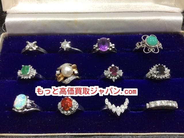 プラチナ リング ダイヤ ルビー サファイア オパール 高く 貴金属 買取 千葉県 柏市