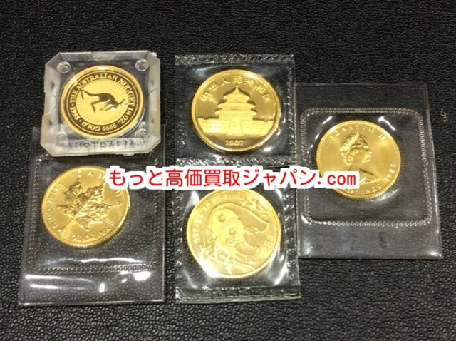 K24 金 パンダ コイン 25.5g  メイプルリーフ 金貨 高く 貴金属 買取 千葉県流山市