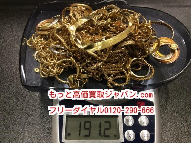切れた リング ネックレス ブローチ 191.2 g K18 高く アクセサリー買取 千葉県白井市