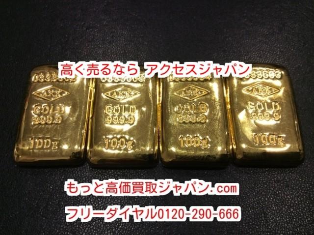 純金 K24金 インゴット 400グラム 貴金属 千葉県 松戸市 高く売るなら アクセスジャパン