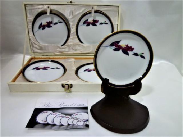 香蘭社 山茶花の栞 小皿 5枚セット 高く 贈答品 ギフト 買取 千葉県 松戸市