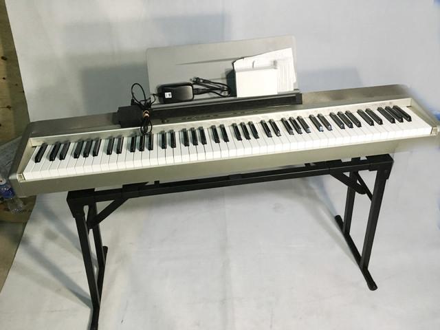 カシオ 電子ピアノ キーボード PX-120 88鍵盤 台付き ペダル ...